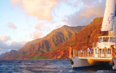Blue Dolphin Charters: Na Pali Sunset Dinner Cruise (with Luau-style Buffet)