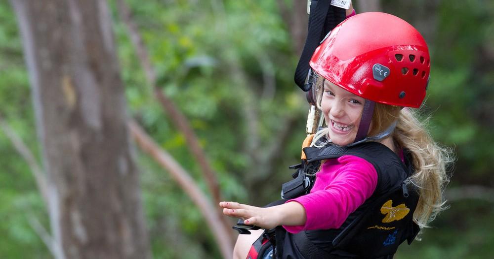 7-Zipline Tree Top Adventure at Piiholo Ranch
