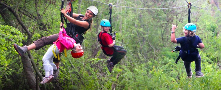 Coral Crater Adventure Park – Full Zipline Tour