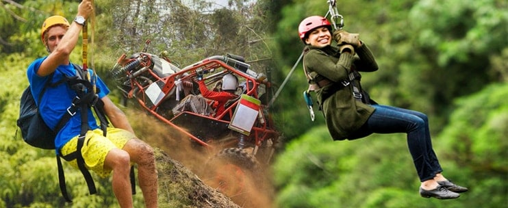Coral Crater Adventure Park – Zipline & ATV Off-Road Adventure Package