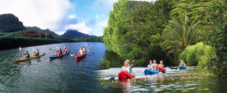 Hidden Valley Falls Kayak by Outfitters Kauai