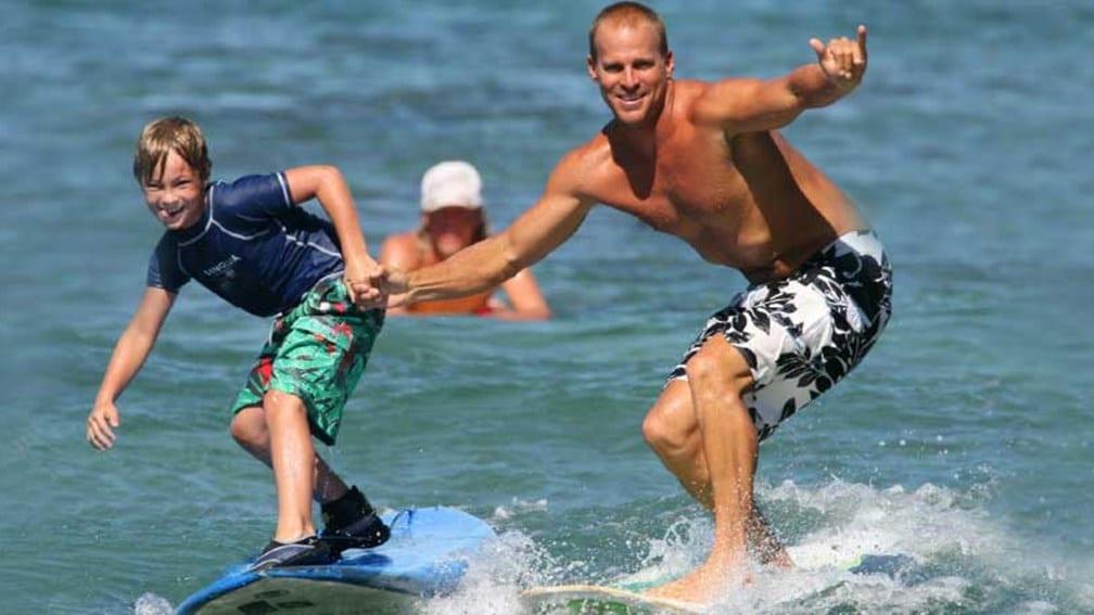 Surfing with Hans Hedemann