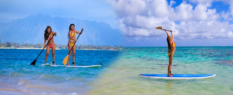 Stand Up Paddling Guided Tour by Kailua Beach Adventures